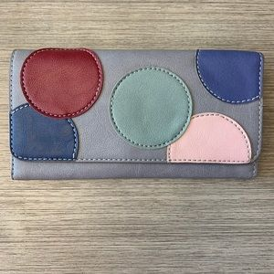 Relic Gray w/Colored Dots Wallet